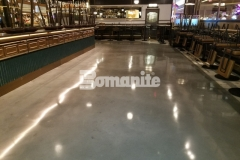 We used Bomanite Modena SL to create this interior flooring at Angeline by Michael Symon and while upholding the design standards and staying within budget, we were able to create a functional, decorative concrete floor that enhances the sleek and modern design inside the restaurant.