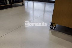 The 2019 Bomanite Custom Polishing Systems Bronze Award was presented to our colleague Musselman & Hall for their expert installation of this Bomanite Modena SL custom polished overlay, and the warm gray flooring and satin finish are the perfect addition to enhance the refined design aesthetic throughout the Nickel & Suede flagship store.