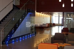 Concrete Arts installed these Slate Gray integrally colored concrete floors at the MSU Law Enforcement and Criminal Justice Education Center, incorporating local aggregates and Mother of Pearl oyster shells to add texture and detail and then the Bomanite Modena Custom Polishing System was used to create a finished product that is durable and distinctively beautiful.