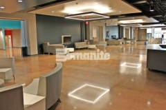 Featured here are the Bomanite Patene Teres and Bomanite Patene Artectura systems that were installed inside Hope Fellowship Church to create breathtakingly beautiful architectural concrete flooring and add a feeling of warmth and welcoming throughout the gathering spaces.
