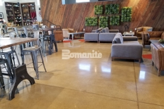 Bomanite Patene Teres custom polished concrete flooring was installed inside the Northside Christian Church School and Frappe House to provide a durable flooring surface with exceptional resistance to slipping, abrasion, and impact that perfectly complements the contemporary aesthetic within these spaces.