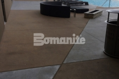 Bomanite Alloy was installed here to create a durable and decorative pool deck surface at the Tulsa Hard Rock Hotel & Casino, and the improved wear resistance it provides will stand up to the foot traffic that comes with a busy club environment.