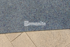 The confluence of the Mississippi and Missouri Rivers was recreated at the entrance to the St. Louis Aquarium using Bomanite Revealed decorative concrete and this product was perfect to provide durability while adding distinct design detail through coloration and aggregate selection.