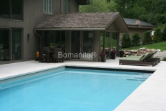 Concrete Arts skillfully installed Bomanite Revealed Exposed Aggregate to create a pool deck with a wow factor, giving the homeowner an outdoor retreat that is both unique and functional.