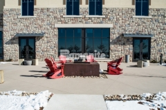 The Bomanite Sandscape Texture Exposed Aggregate System was utilized across the sprawling site at the Gaylord Rockies Resort & Convention Center and was mixed with three different integral colors to produce a prominent hardscape surface that complements the natural Colorado design details.