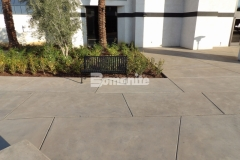 With clean-lined saw cuts and contemporary design, Bomanite Sandscape Refined Antico decorative concrete adds a beautiful, contemporary flair to the outdoor gathering spaces across the campus of CrossCity Christian Church.