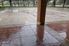 The Best Bomanite Imprint Systems Project Gold Award for was presented to our associate Musselman & Hall Contractors for their detailed installation of Bomanite Bomacron stamped concrete to create the stylish and functional driveway and walkways at the Residence Condominiums in Clayton, MO.