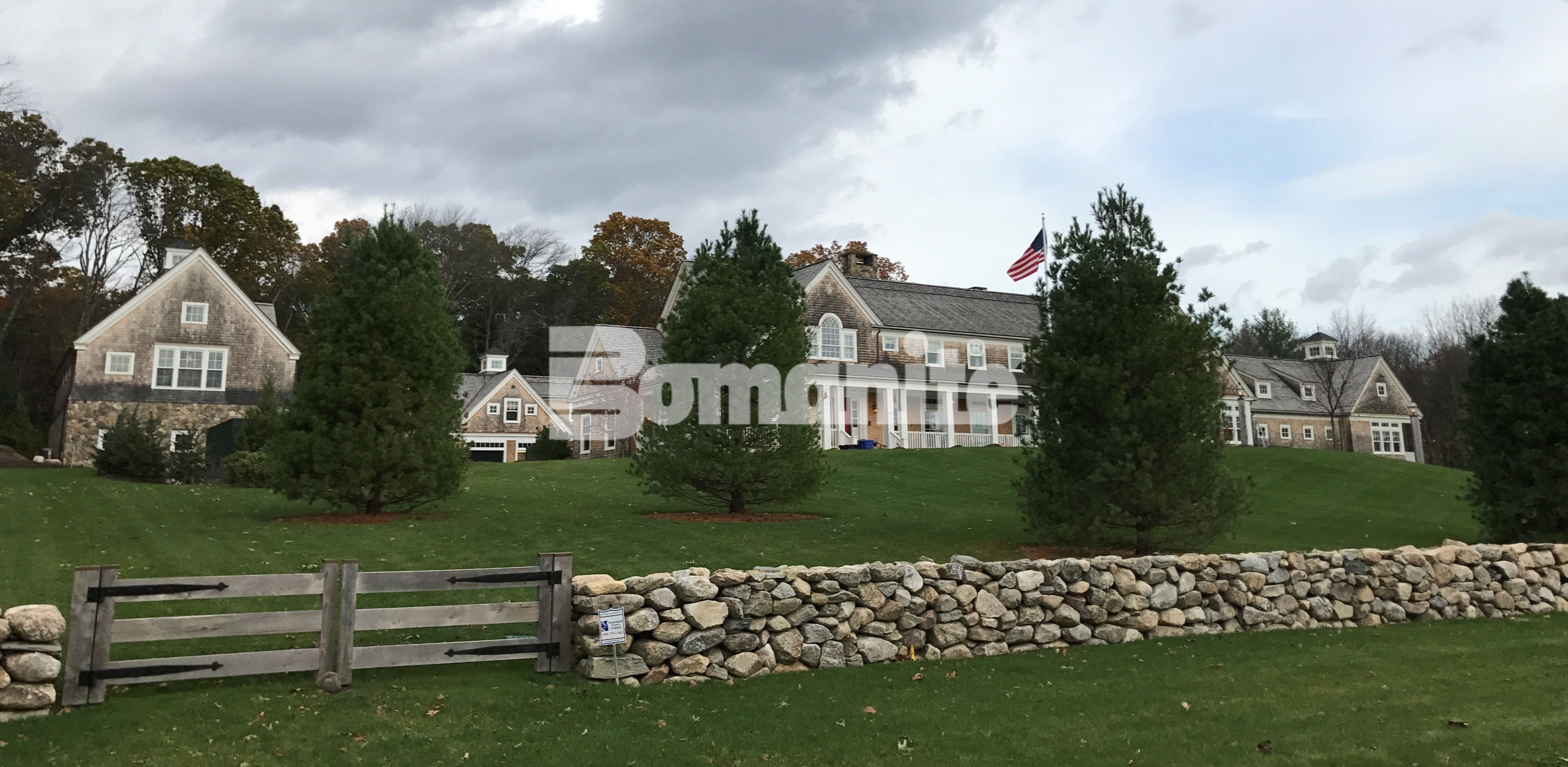 Essex county residential estate overview during the installation of upgrades by Premier Concrete Construction of Bomanite Grasscrete and Bomanite Toppings decorative concrete using Bomanite Boradcast Flake.