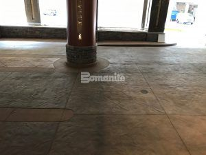 Closer view of Bomanite Decorative Imprinted Concrete Flooring in a Slate Texture at the Monarch Casino Resort Spa in Blackhawk, CO, installed by Bomanite Licensee Colorado Hardscapes.