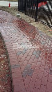 Direct Supply campus features Bomanite Imprint Systems colored and stamped concrete pathways that were installed by Bomanite of Wisconsin.